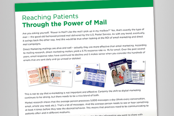 White Paper: Reaching Patients Through the Power of Mail