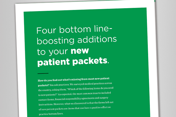White Paper: 4 bottom line boosting additions to your new patient packets.