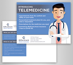 Telehealth postcard