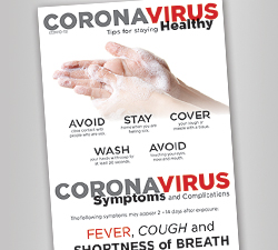 Coronavirus Repositionable Sign